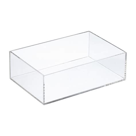 Wa2744 Storage Box Transparant Plastik 10 10 5 Cm rectangle acrylic trays the container store