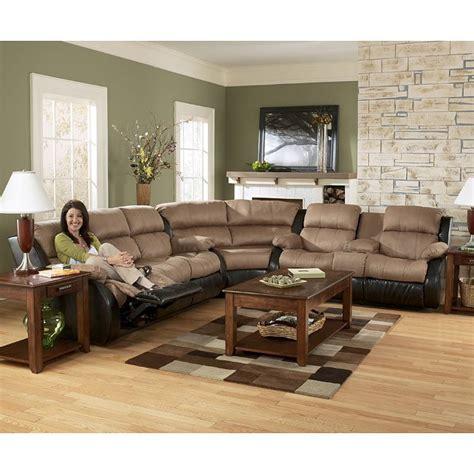 ashley furniture presley 31501 cocoa living room set presley cocoa reclining sectional living room set