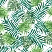 wallpaper daun palma free illustration seamless pattern pastels free image