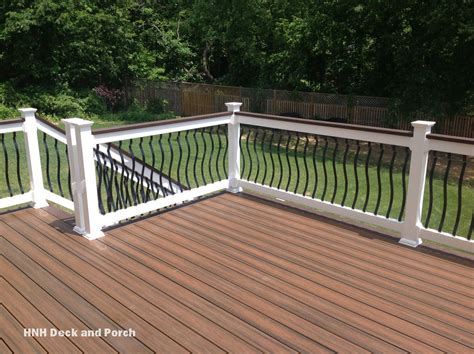 Aluminum Balusters For Deck Railings Trexcompany Decking With Black Brogue Aluminum Balusters