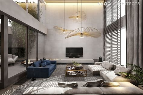 double height ceiling a luxury apartment with a double height ceiling
