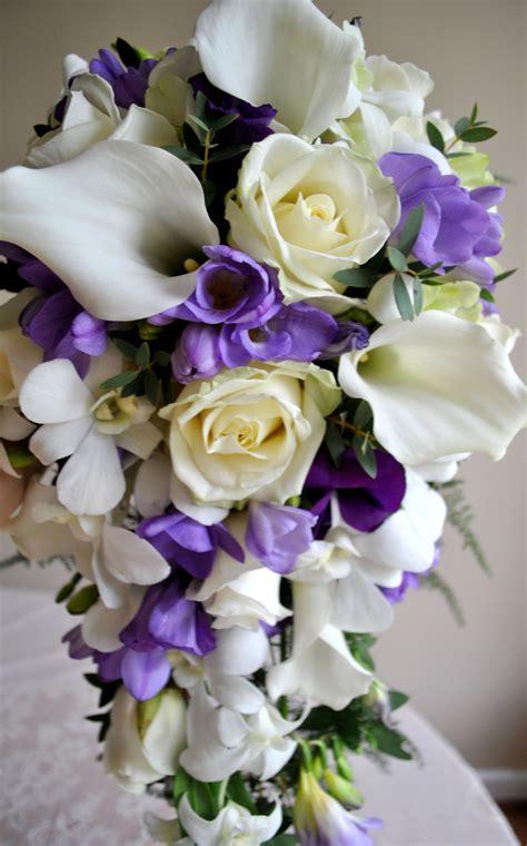 purple aster wedding bouquet purple and white wedding