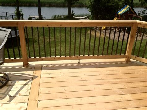 wood railing wooden patio railings home design by larizza
