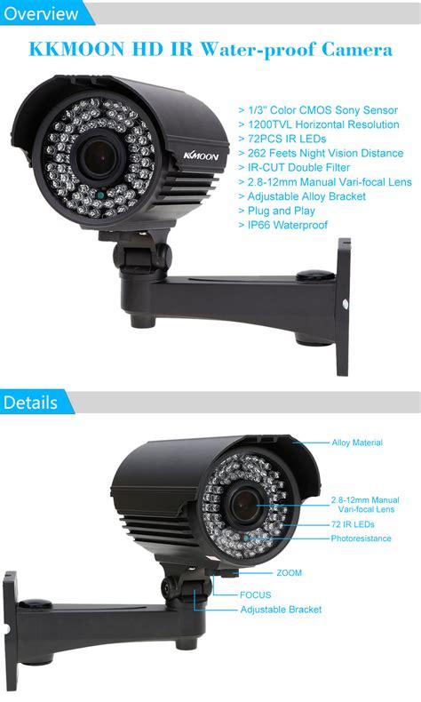 Kamera Cctv Zoom wasserdichte 1200tvl ir 220 berwachungskamera kkmoon zoom varifocal cctv kamera ebay