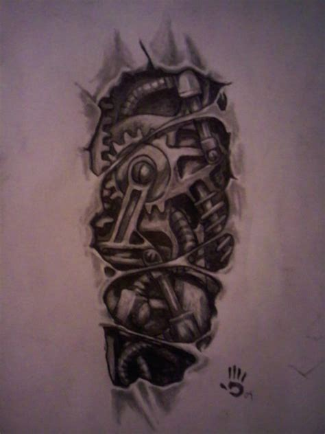 black and grey biomechanical tattoo designs 67 mechanical tattoos