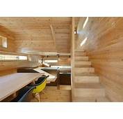 Tiny Barn Conversion Zigzags Rooms Vertically  Modern