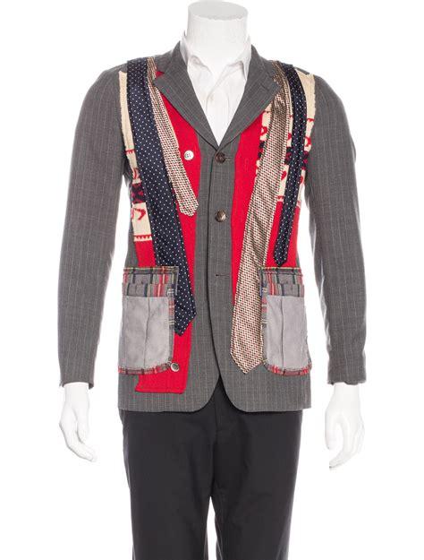 Patchwork Apparel - comme des gar 231 ons patchwork deconstructed blazer