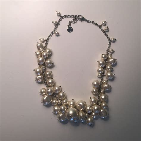 70 talbots jewelry silver and pearl necklace from