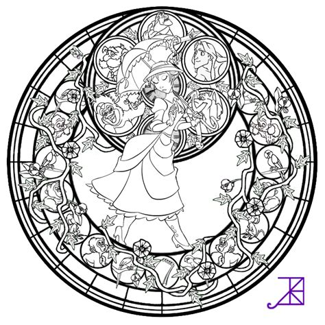 Stained Glass Disney Characters Pages Coloring Pages Stained Glass Disney Princess Free Coloring Sheets