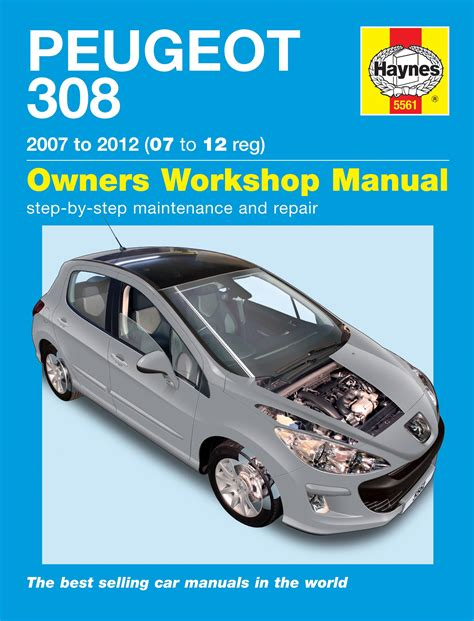automotive maintenance light repair books haynes workshop car repair owners manual peugeot 308