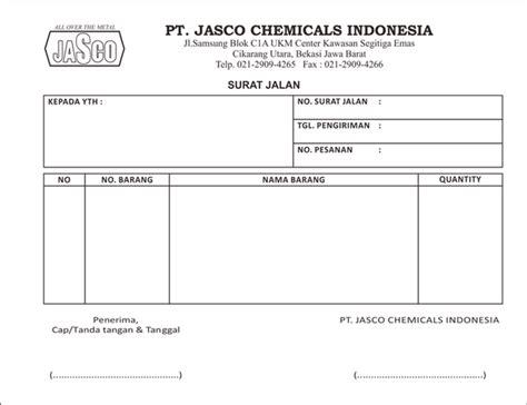 percetakan bekasi on quot design cetak surat jalan pt jasco