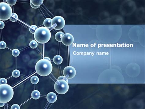 Molecular Structure Powerpoint Template Backgrounds 03327 Poweredtemplate Com Organic Chemistry Powerpoint Templates Free