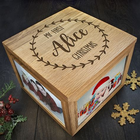 personalised my first christmas memory box treat republic