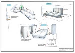 Interior Layout by Grandpriy Interior Design Sketches