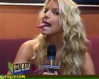 Simpson Naughty Tongue Picture Jessica Pictures Celebrity Oops