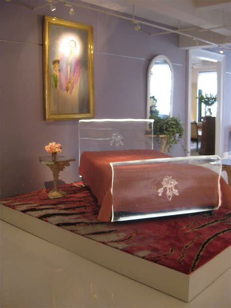 helena rubinsteins lucite bed  prigents collection