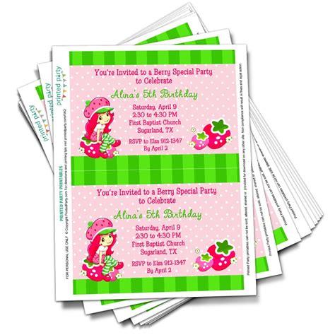 Strawberry Shortcake Baby Shower Invitations by Strawberry Shortcake Baby Shower Invitations Theruntime