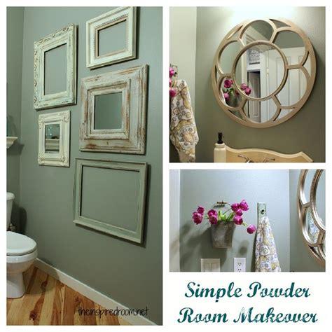 simple bathroom makeovers simple powder room makeover ideas love the bathroom
