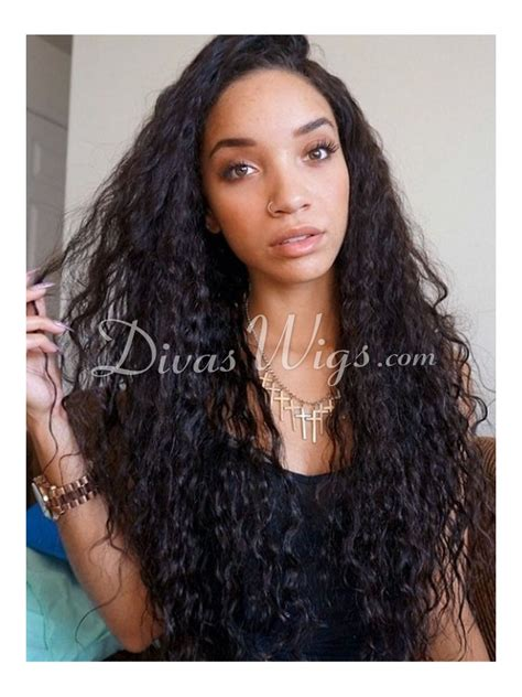las wig white inspired human hair curly