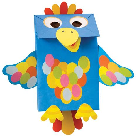 Paper Bag Puppet - paper bag puppets kit at growing tree toys