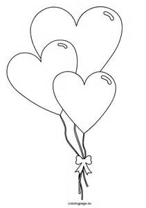 valentine heart shaped balloons coloring