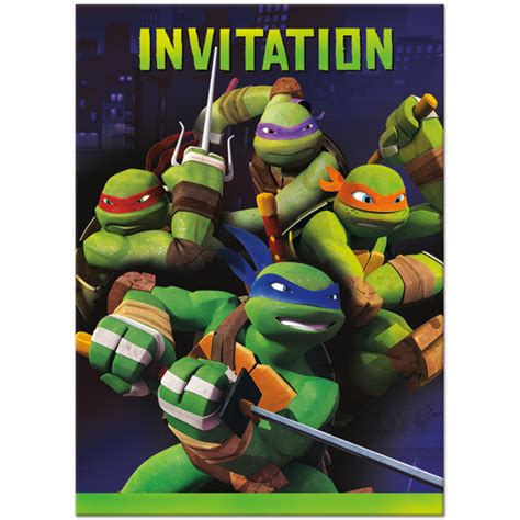 tmnt birthday card template mutant turtle birthday invitations template