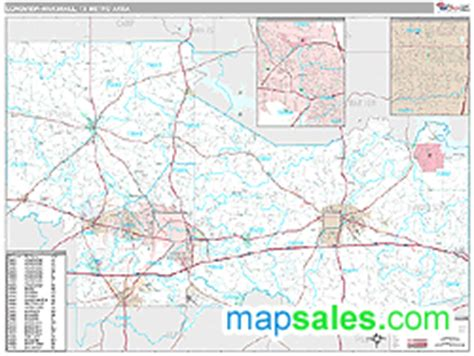 longview texas zip code map longview marshall tx metro area zip code wall map premium style by marketmaps