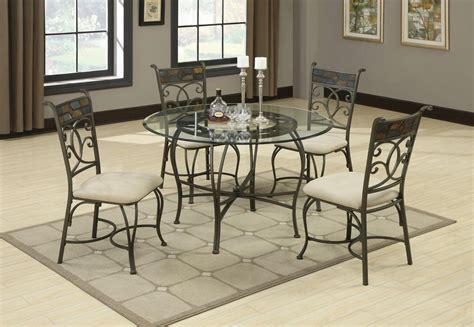 glass dining room table sets sheridan grey metal and glass dining table set steal a