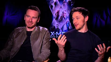 james mcavoy xmen contract michael fassbender and james mcavoy interview youtube