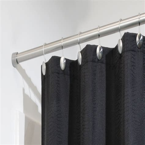 tension shower curtain rod interdesign forma medium shower curtain tension rod 78570