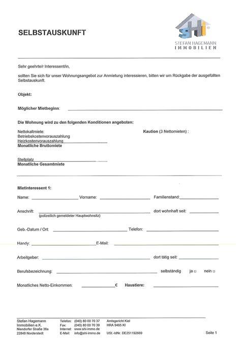 Selbstauskunft Vermieter by Wohnungsgeberbescheinigung Bei Stefan Hagemann