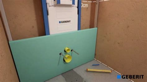inbouw wc inbouwen plaatsen van een geberit duofix wcelement h112 voor