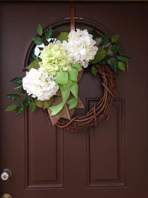 Hydrangea Wreaths For Front Door White Hydrangea Wreath For Front Door Summer Wreath