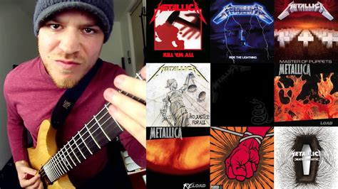 rob guitarist guitarist rob scallon plays every metallica song in 4 minutes