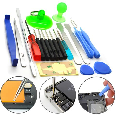 Repair Opening Tools Kit Set For Iphone 4566 Plus Repair Kit mobile phone repair tool kit 21 in 1 screwdriver set for iphone samsung tablet ebay