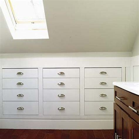 Built In Dresser Ideas by How To Build A Knee Wall Storage Dresser Diy Projects For Everyone