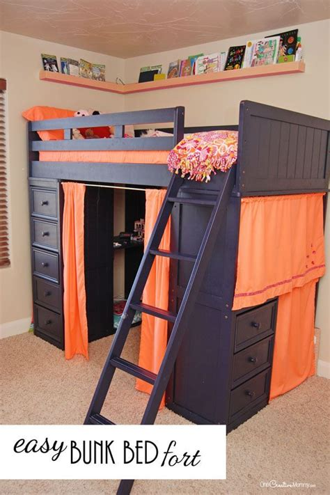 Can You Turn A Bunk Bed Into A Loft Bed Who Knew That This Annoying Space Could Turn Into Such A Bunk Bed Fort Bunk Bed Fort