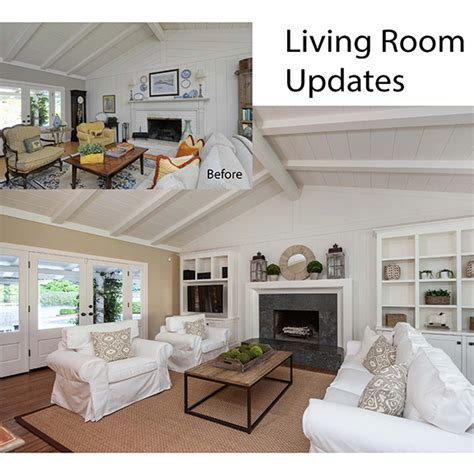 before the living room is rather long and narrow the fireplace before after big impact on space style dana green