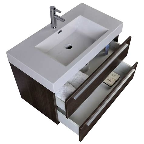 35 5 quot modern bathroom vanity grey oak wall mount free