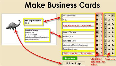 create business cards on the fly free pdf cards - Make A Business Card Free
