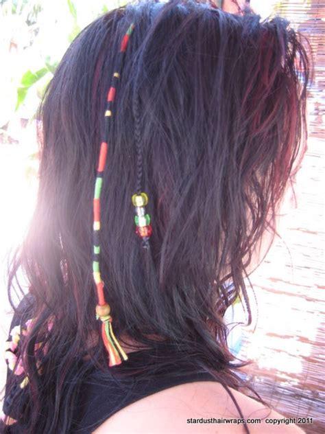 feathered wraps black hair hair wraps hair braids hippie hair wraps hair beads