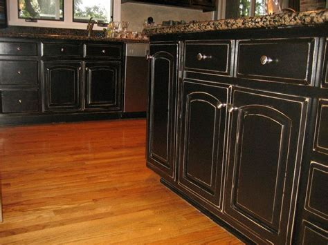 Black Glazed Kitchen Cabinets 25 Best Black Distressed Cabinets Ideas On Distressed Kitchen Cabinets Glazed