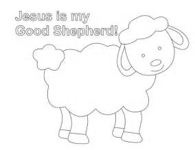 coloring page jesus with sheep shepherd and sheep coloring page lesson five the