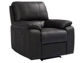 fauteuil relaxation manuel en cuir coloris chocolat