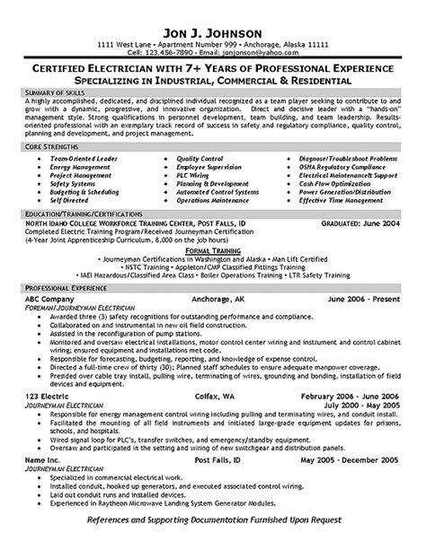 Commercial Electrician Resume Sles Resume Sles Haul Truck Driver Resume