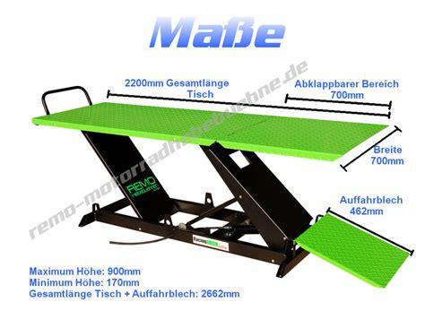 Einfache Motorradhebeb Hne by Motorad Hebebuehne Remo In Racing Green F 252 R Profis
