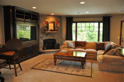 ravishing living room designs  corner fireplace