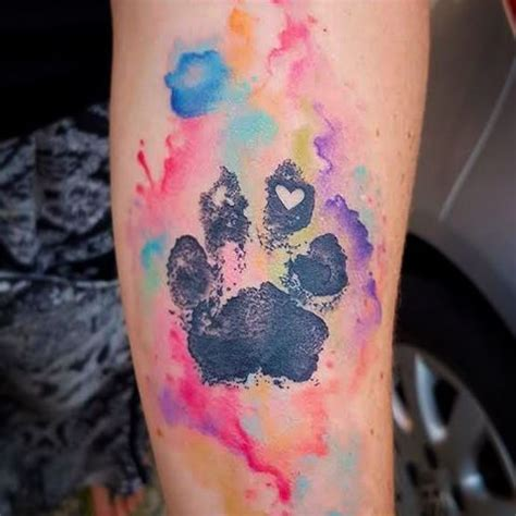watercolor tattoo queensland do not want this ink pawprint awesome