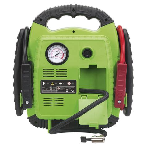 sealey roadstart 174 emergency power pack with air compressor 12v 900 peak s tools today