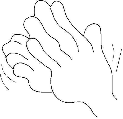 Coloring Pages Of Clapping Hands | clap coloring coloring coloring pages